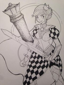 The Chess Queen by Cupikagi