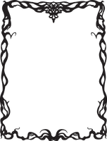 Art Nouveau Border by justencase