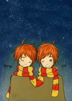 the weasley twins by leeviii