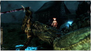 Orc Warrior - Killing Blow on the Dragon - Skyrim by Jace-Lethecus