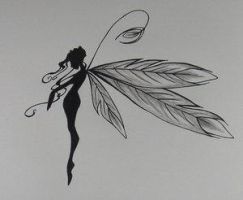 Pretty feathered fairy by DesignTheSkinYourIn