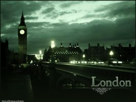 London by Night Desktop by larkspur