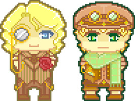 Pixel AU France and England by GilbertsBeer