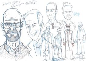 Breaking Bad late night sketch by Porkchop-ART