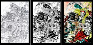 wolvie omega red pinup process by Daequitas