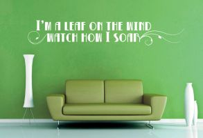 I'm a Leaf on the Wind  - Firefly Wall Decal by GeekeryMade