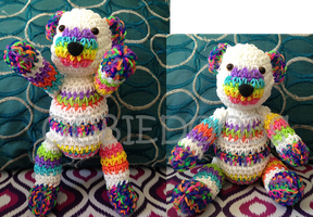 Rainbow Loom Band Teddybear by Oobiedoobs