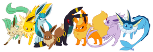 Eevee family by Kilala04