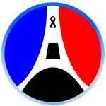 Pray for Paris Badge by StarEmblem97