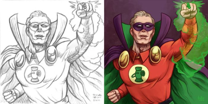 Daily Sketches Alan Scott by fedde