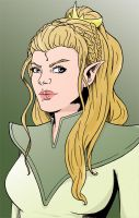 Character design colored by Blenia