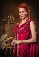 Blood and Sand: Lucretia: Oil Paint Re-Edit by nerdboy69