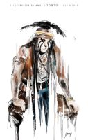 2013-7-9 Watercolor Tonto by amoykid