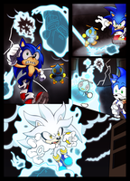 Crisis City - Sonic Vs. Silver colored by HoneyL17