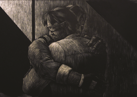 MGS Fancalendar 2013 Submission - Snake/Otacon by Manga-Phoenix