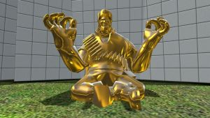 And now, I became a golden statue of happenis by Cowboygineer