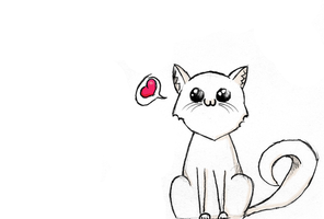 cat heart you by CopycatII