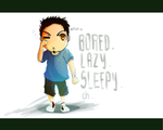 bored and lazy and sleepy by iceFlash-ex