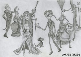 corpse bride characters by RyanDionn