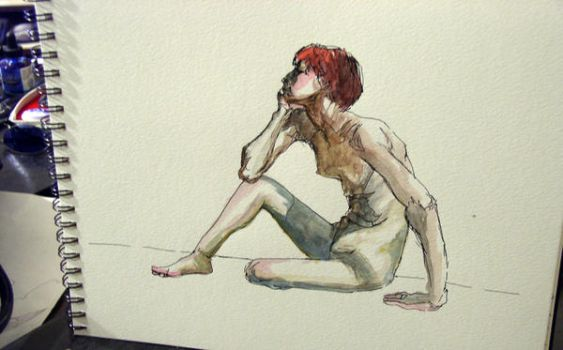 Watercolor life sketch by oddbill
