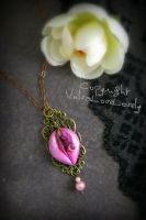 Proud Orchid Vulva Pendant by VulvaLoveLovely