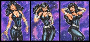 WONDER GIRL PERSONAL SKETCH CARDS by AHochrein2010