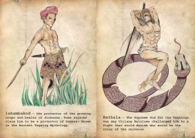Philippine Mythology: Lakambakod(A) at Bathala (B) by binibinieyebagsToTZ
