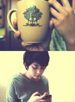 morning latte. by icachanDesign