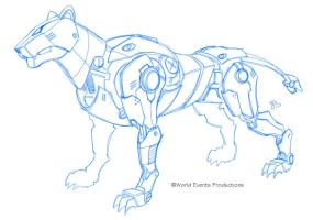 Voltron 2011 unused Blue Lion by EJ-Su