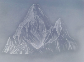 Mountain drawing by Arcadeon