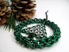 Ringed Tree Maille Ornament by SerenityinChains