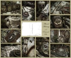 Altered Alchemy 12 Postcard Set by luthien27