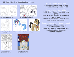 Art Work Commission Prices by lcponymerch