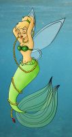 Tinkerbell as Ariel Colored by gypsyofdreams
