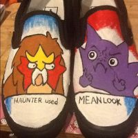 Haunter Used Mean Look Shoes by i-heartz-cupcakez