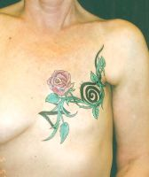 Rose on chest cover up by madamelazonga
