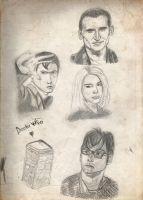 Doctor Who Sketches by x-VelvetChains-x