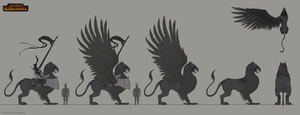 TW:WH Concept Art - Imperial Griffon Design by telthona