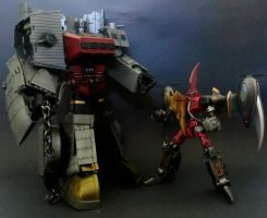 STEAMPUNK DINOBOTS by enclinedesigns