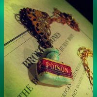 Poison Bottle Necklace by asunder