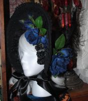 Black and blue bonnet by OphanimGothique