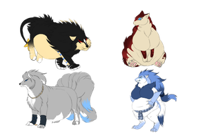 New pokis by animefreakX33