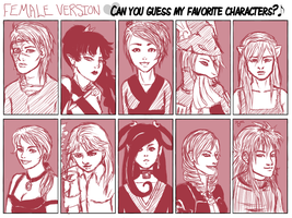 Top 10 Favorite Female Chars by andrivette