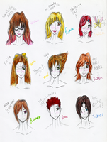 MY PERSONA CHARACTERS (read desk) by Karen-Donna