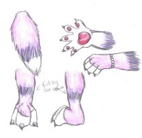 Yoru fursuit hands legs tail by Animal-and-anime-lvr