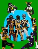 Missing Black Rangers by LavenderRanger