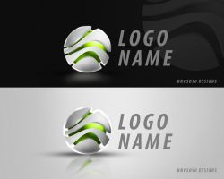 simple 3d logo by mnoso90