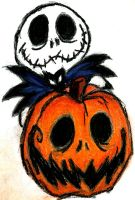 Jack Pumpkinhead Skeleton Ink by CreoPic