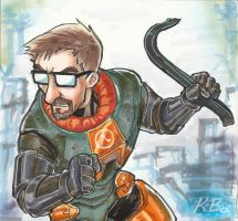 Half Life Gordon Freeman Commission by kevinbolk