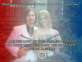 Purge Support Ads: Prom Couple With Rifles by FearOfTheBlackWolf
